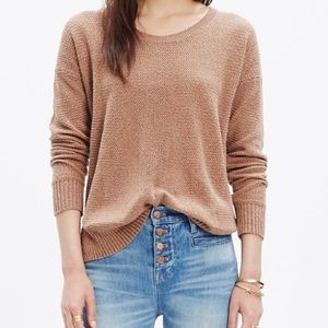 Madewell Textured Knit Sweater Crew Neck